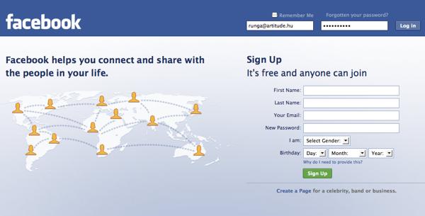 Facebook belépés - Netpédia
