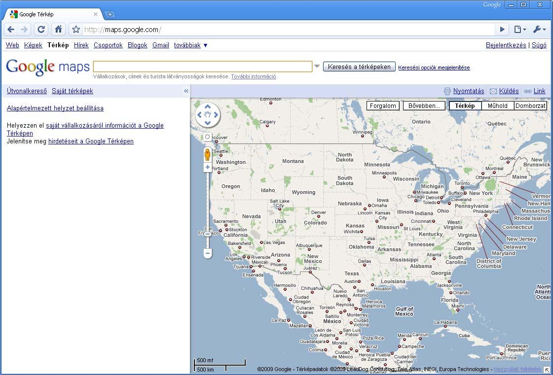 6535060570 Google maps használata, saját térképek létrehozása, mentése - Netpédia